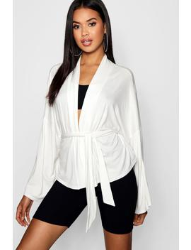 jersey-belted-kimono by boohoo