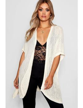 plus-crochet-kimono by boohoo