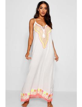 embroidered-beach-maxi-dress by boohoo