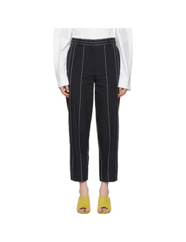 navy-pinstripe-trousers by cÉdric-charlier