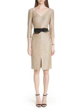 glamour-sequin-knit-dress by st-john-collection