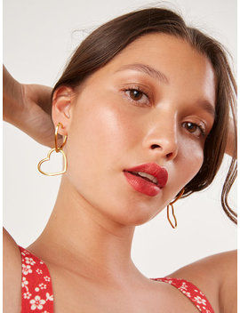 Bagatiba Double Heart Hoops by Reformation