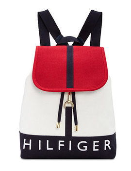sporty-signature-canvas-flap-backpack by tommy-hilfiger