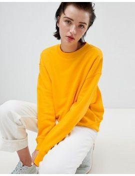 weekday-cropped-sweatshirt-in-warm-yellow by weekday