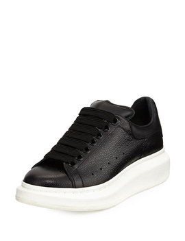 pebbled-leather-lace-up-sneaker by alexander-mcqueen