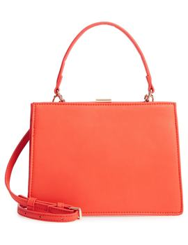 faux-leather-frame-handbag by street-level