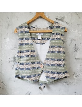 stampede-80s-green-&-blue-jean-crop-vest by stampede