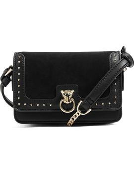 panther-studded-faux-leather-crossbody-bag by topshop