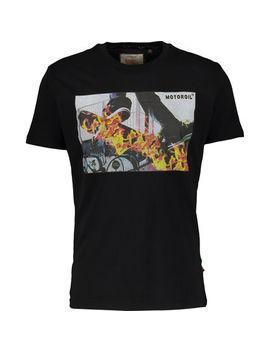 black-fire-skateboard-t-shirt by brave-soul