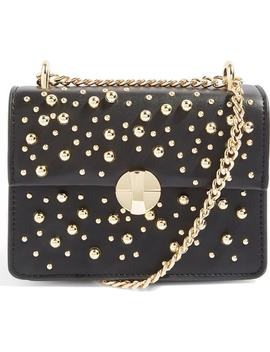 betty-ball-stud-faux-leather-crossbody-bag by topshop