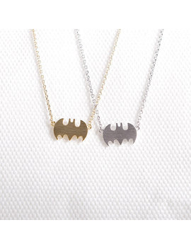 daisies-gold-silver-little-bat-necklace-batman-necklace-for-best-friend-sister-gift by ali-express