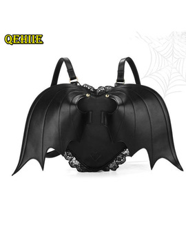 women-backpack-bat-wing-backpack-punk-stylish-newest-school-bag-for-girls-bat-bag-angel-wings-backpack-cute-little-devil-package by qehiie