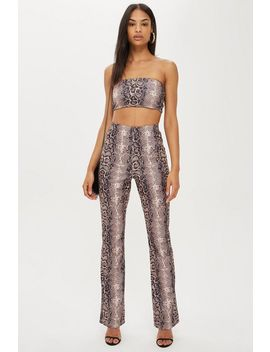faux-snakeskin-flare-trousers-by-we-own-the-night by topshop