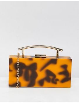 asos-design-tortoiseshell-marble-clutch-bag by asos-design