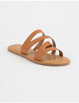 bamboo-asymmetric-tan-womens-sandals by bamboo