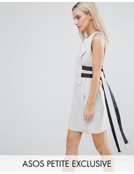 asos-petite-double-layer-dress-with-strap-detail by asos-petite