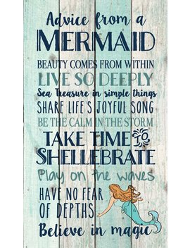 p-graham-dunn-advice-from-a-mermaid-believe-in-magic-24-x-14-wood-pallet-wall-art-sign-plaque by p-graham-dunn
