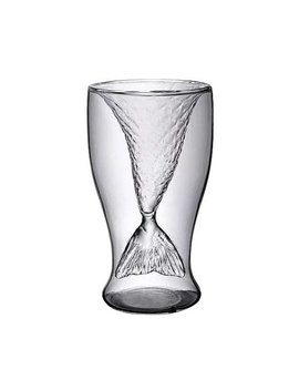clear-100ml-innovative-mermaid-shape-double-glass-wine-beer-cup-for-bar-party by ocday