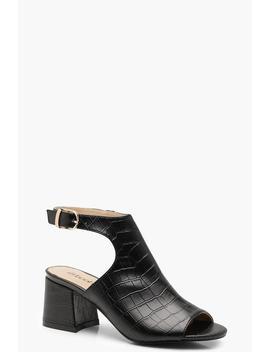 peeptoe-croc-effect-shoe-boots by boohoo