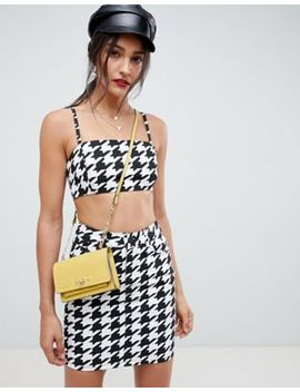 asos-design-two-piece-houndstooth-skirt by asos-design