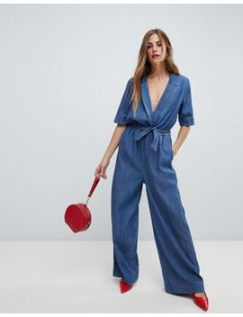 only-wrap-denim-jumpsuit by only