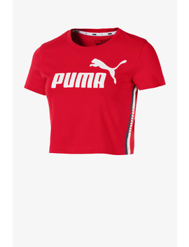 tape-logo-cropped-tee by puma