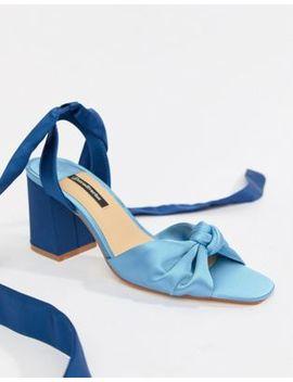 stradivarius-wraparound-block-sandals by stradivarius