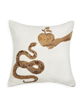 Muse Snake &Amp; Apple Throw Pillow by Jonathan Adler