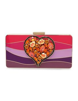 crystal-embellished-color-block-plexiglas-box-clutch by lanvin