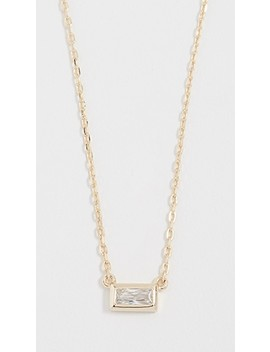 baguette-solitaire-necklace by shashi