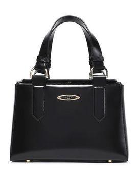 glossed-leather-shoulder-bag by lanvin