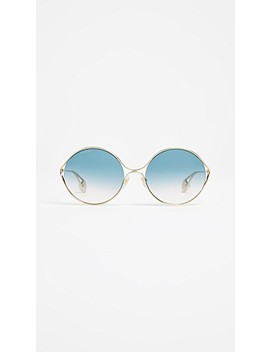 fork-oval-frame-sunglasses by gucci