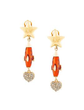 crystal-embellished-drop-earrings by dolce-&-gabbana