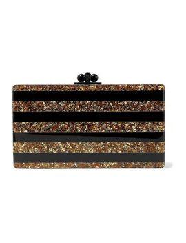 jean-striped-glittered-acrylic-box-clutch by edie-parker
