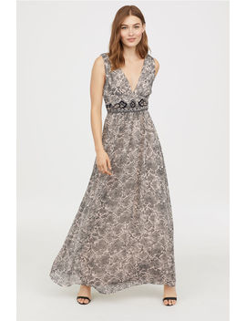 beaded-maxi-dress by h&m