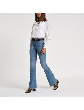light-blue-flare-jeans by river-island