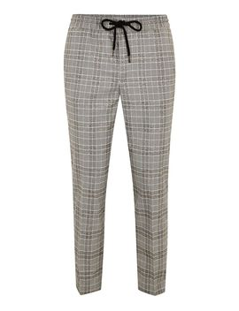 gray-check-joggers-with-red-side-stripe by topman