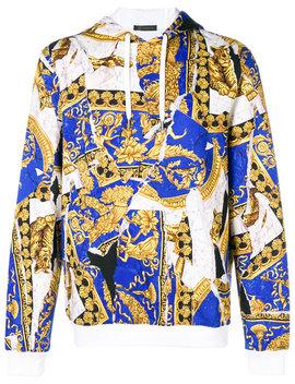 baroque-print-hoodie by versace