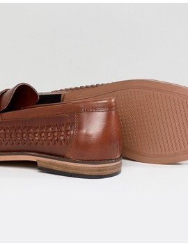 river-island-leather-woven-tassel-loafers-in-tan by river-island