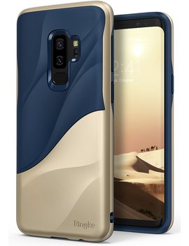 galaxy-s9-plus-case-ringke-[wave]-[marina-gold]-dual-layer-heavy-duty-3d-textured-shock-absorbent-pc-tpu-full-body-drop-resistant-protection-modern-design-cover-for-samsung-galaxy-s9-plus-2018 by ringke