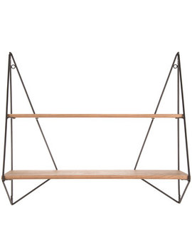 geometric-double-wood-wall-shelf by hobby-lobby