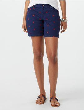 star-print-twill-shorts by dressbarn