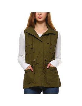 fashionazzle-womens-lightweight-sleeveless-military-anorak-utility-jacket-vest by fashionazzle