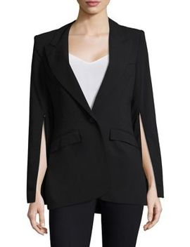 zip-sleeve-peak-lapel-linen-blazer by smythe