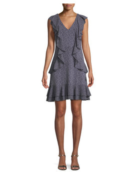 cascade-ruffle-shift-mini-dress by michael-michael-kors
