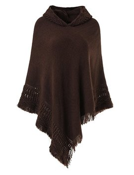 ferand-ladies-hooded-cape-with-fringed-hem,-crochet-poncho-knitting-patterns-for-women by amazon