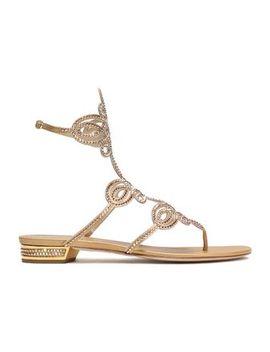 crystal-embellished-cutout-metallic-satin-sandals by rene-caovilla
