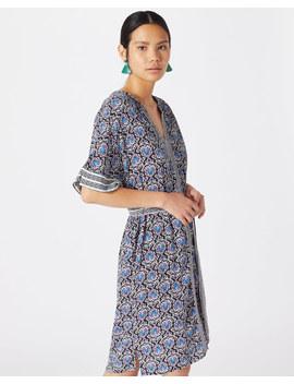 Mayan Tile Print Dress by Jigsaw