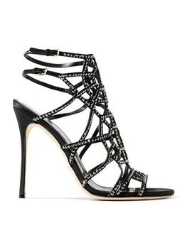crystal-embellished-cutout-suede-sandals by sergio-rossi