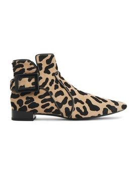 buckled-leopard-print-calf-hair-ankle-boots by roger-vivier